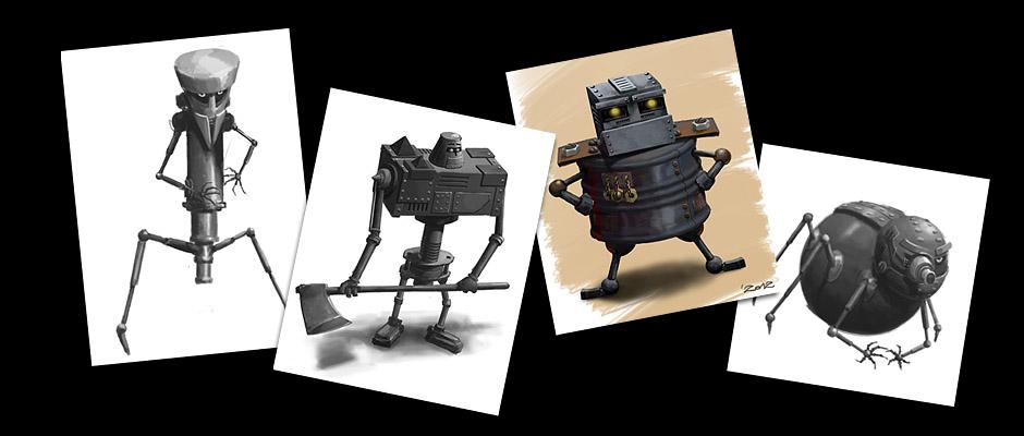 J-Tubeus. Steam Adventures. Эскизы героев игры.